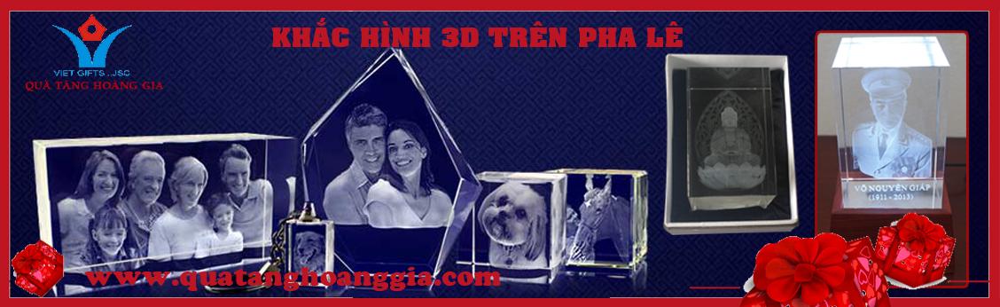 Khắc hình 3D trong khối pha lê