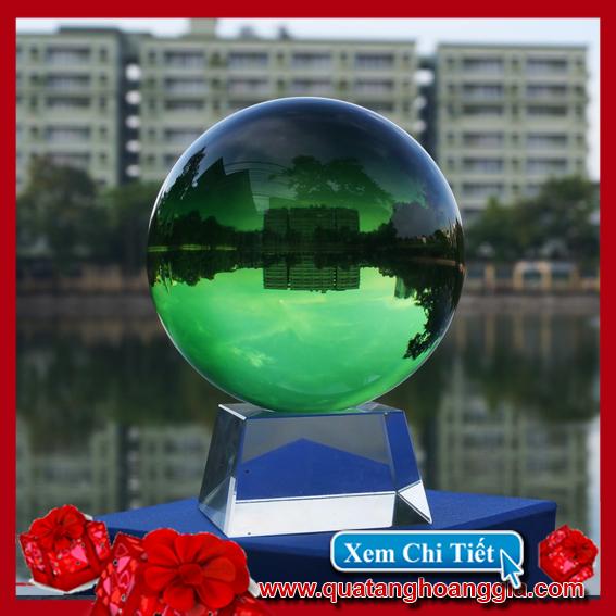 Quả cầu pha lê 11Cm mầu xanh lục