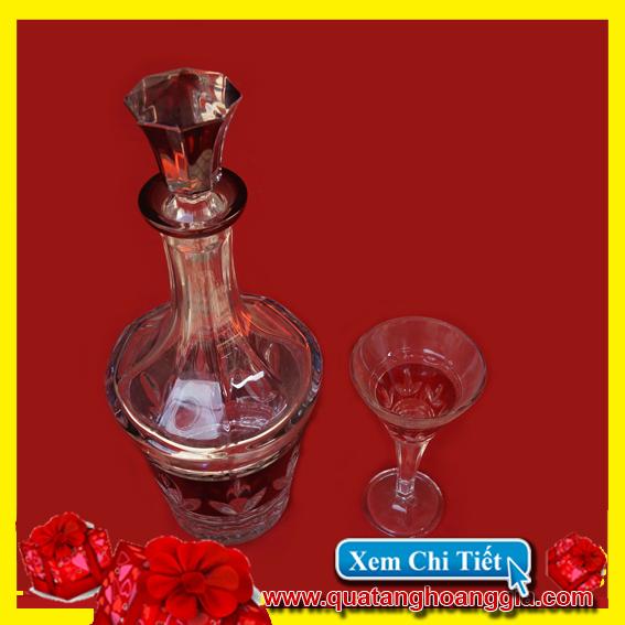 Quà biếu tết 5 - Bộ ly rượu pha lê