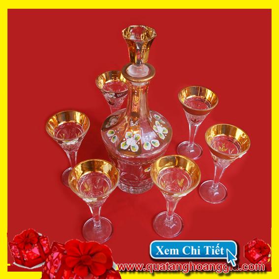 Quà Biếu Tết 8 - Bộ bình ly rượu pha lê