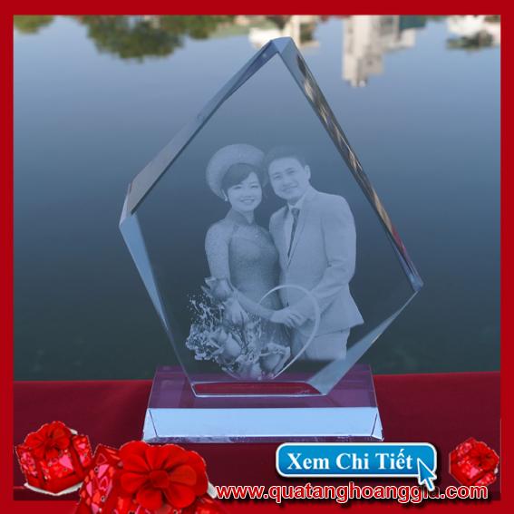 Ảnh cưới pha lê 3D