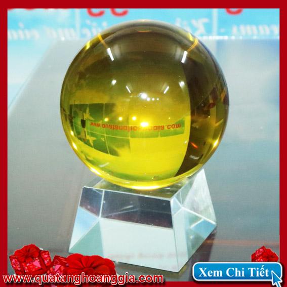Quả cầu pha lê 11Cm màu vàng